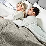 [5 Year Warranty] WOOMER Electric Heated Throw Blanket, Soft Flannel Sherpa Fast Heating Blanket, Twin Size 84'x 90', 10 Heating Levels & 0.5-12H Auto Off, Over-Heat Protection, ETL Certification