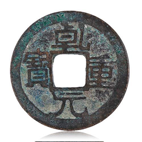 Alte chinesische Antike Münzen, Tang-Dynastie, Yuan Yuan, Schweres Schatz, Bronze Münzen, Kupferteller Amulett auszutreiben Böse Geister Geld Zeichnung Reichtum Vermögen