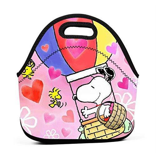 yusanbaihuodian El almuerzo de encargo empaqueta Snoopy en refrigerador caliente del almuerzo del globo del aire para el trabajo/la escuela/la picnic