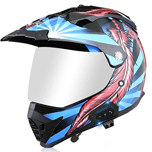 XIUJC Motorcycle Helmet Mountain Competition Off-Road Helmet Long-Distance Motocross Rally Helmet Men and Women Four Seasons Full Face Helmet for Adult Girls Boys