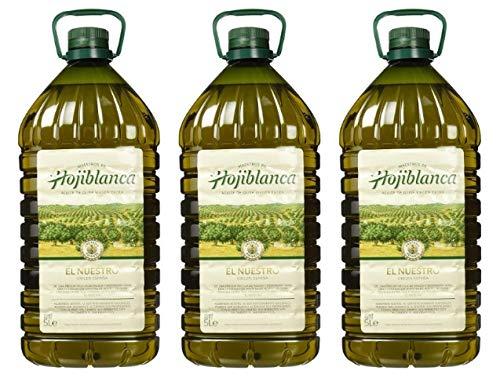 Aceite de Oliva Virgen Extra Español Hojiblanca 3x5L (Caja 3 Botellas)