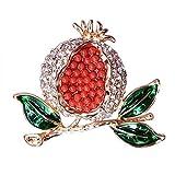 Yarmy Moda Cientos Diamante Conjunto Granada Broche Serie Frutas otoño e Invierno