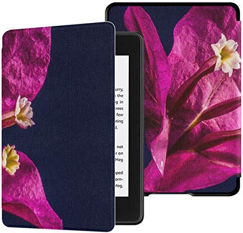 Kindle Paperwhite Custodia per e-reader Bougainvillea Flower Bud Migliore custodia per Kindle Paperwhite con sveglia/sonno Auto Custodia per Paperwhite impermeabile Kindle decima generazio