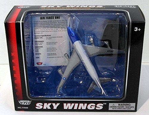 Sky Wings schaal 1: 100 Richmond Toys, Motormax, Air Force One gegoten vliegtuig