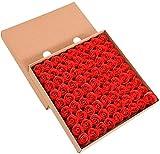 iSpchen Butterme Juego de 81 jabones de baño aromáticos, Fabricados a Mano, Aroma a Rosas, diseño de capullos con pétalos, envío en Caja de Regalo, para Boda