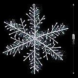 KARAA 48PCS Copos de Nieve Colgantes para árboles de Navidad Blancos Decoración navideña 11CM Adornos