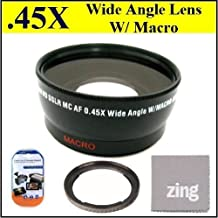58mm 0.45x Wide Angle Lens with Macro For Canon G1 X 14.3 MP CMOS Digital Camera + Filter Adapter + More!!