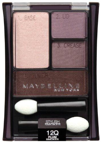 Maybelline New York Expert Wear Eyeshadow Quads, 12q Plum Smokes Stylish Smokes, 0.17 Ounce