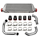 BLACKHORSE-RACING Front Mount Intercooler Kits Fmic Bolt On for 1998-2001 A4 S4 B5 1.8T Motors (27'x7'x2.5')