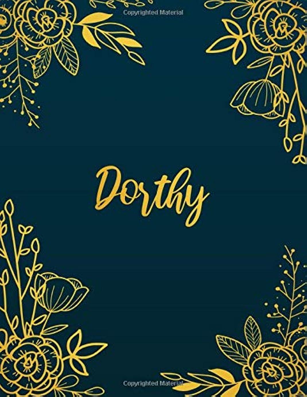 メトリックサイズ簡単にDorthy: Personalized Name Notebook/Journal  Perfect Gift For Women & Girls 100 Pages A4