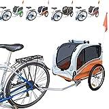 PAPILIOSHOP SNOOPY Rimorchio carrello bici per il trasporto cane cani animali (Arancio medio)