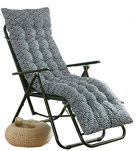 Yuly Cojín acolchado para tumbonas de jardín, respaldo de patio, interior antideslizante, funda de asiento de respaldo alto, colchón reclinable 90 x 40 x 6 cm