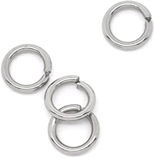 VALYRIA 100-Piece 6mm Stainless Steel Open Jump Rings Finding,18-Gauge