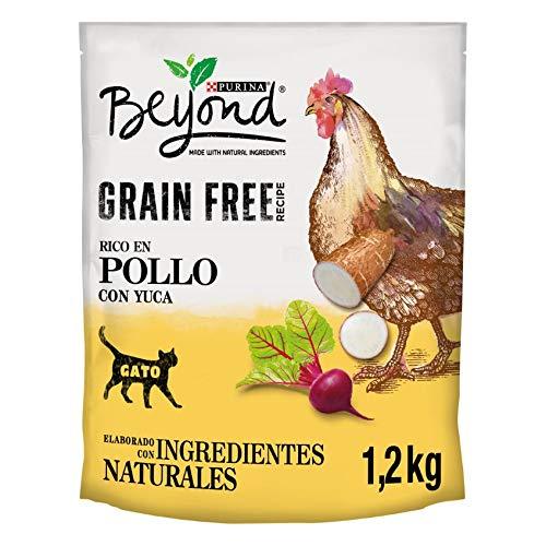 Purina Beyond Grain Free pienso Natural para Gato con Pollo 6 x 1,2 Kg - 1 Sacos