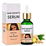 Hair Growth Serum, Anti Hair Loss Serum With Ginger, polygonum Multiflorum, For Thinning Hair, Bald, Hair Loss, Repairs Hair, Promotes Thicker Regrowth, Hair Growth Treatment For Men & Women (30ml)