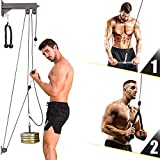 TRENDBOX Pulley System Gym Cable Machine Triceps Rope Pulley System Triceps LAT Pulldown Attachments Chest Expansion Training Fitness Home Gyms