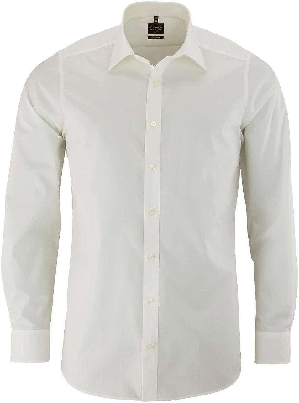 Camiseta de manga larga de Olymp de corte moderno con cuello New Kent