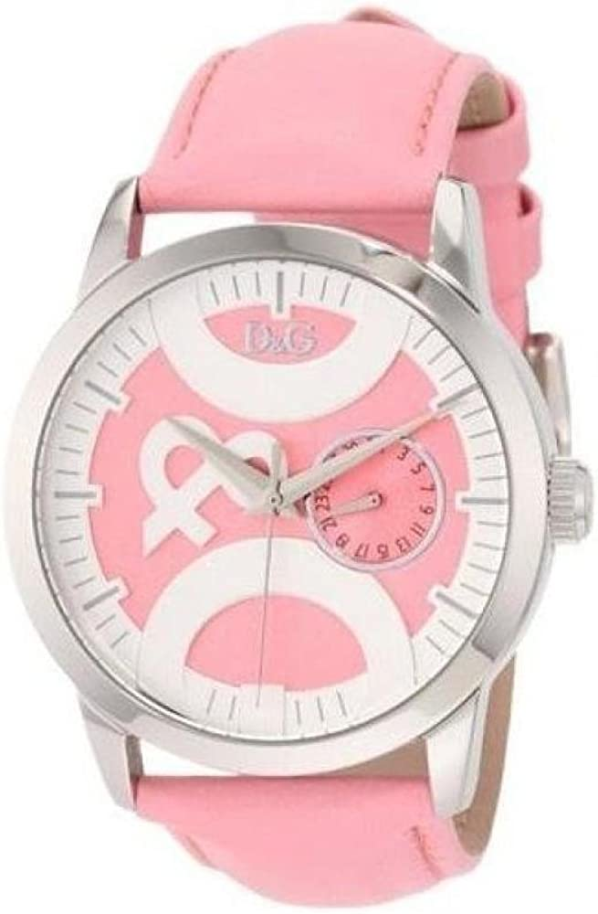 dolce & gabbana ,orologio per donna,cassa in acciaio e cinturino in pelle al 100 % dw0756