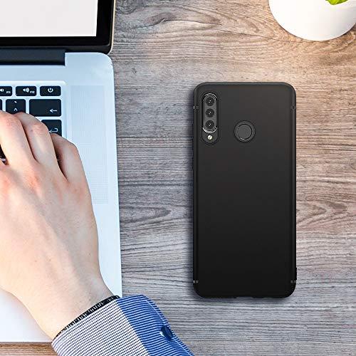 BENNALD Hülle für Huawei P30 Lite Hülle Soft Silikon Schutzhülle Case Cover - Premium TPU Tasche Handyhülle für Huawei P30 Lite (Schwarz,Black) - 7