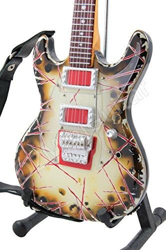 Richard Z Kruspe ESP RZK-1 Burnt Signature - Guitarra en miniatura