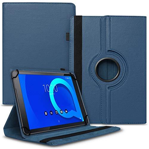 Tablet Hülle kompatibel für Alcatel 1T 10 Tasche Schutzhülle Hülle Schutz Cover 360° Drehbar 10.1 Zoll Etui, Farbe:Blau