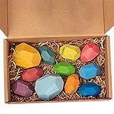 Meditations-Balancier Steine, Mehrfarbig Stapelspiel aus Holzsteinen, Pädagogisches Spielzeug zur Entspannung und Konzentration