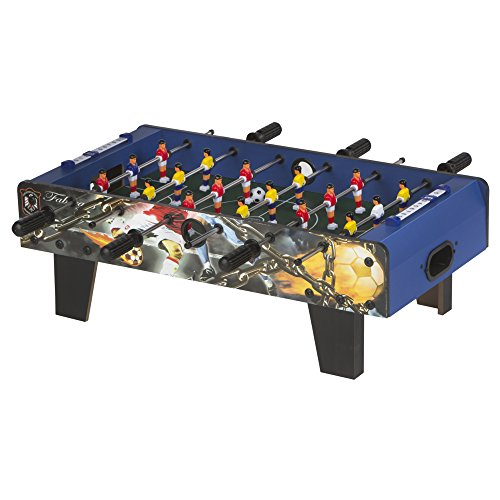 ColorBaby -  Futbolín madera CBGames, Deluxe, color azul (43312)