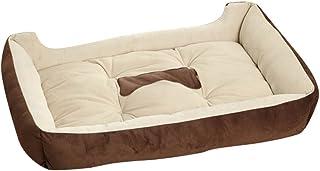 YOUJIA Cama para Mascota Suave Doggy Doghouse Cojín Basket de Mascotas Perros (Café, XL)