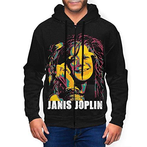 Yougou Janis Joplin Joplin in Concert Hoodies Sweatshirt Full-Zip Long Sleeve Jacket Men's Casual Fashion Sweater