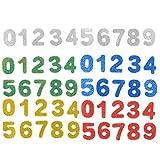 TOYMYTOY 200 Stücke 0-9 Zahlen Sticker Selbstklebende Glitzernde EVA Aufkleber für Kinder