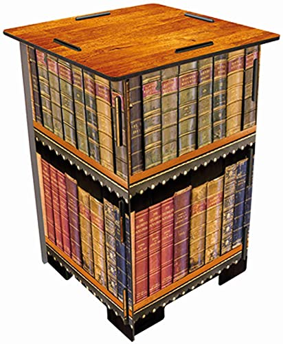 Werkhaus SH 8183 Photohocker Antike Bücher Mehrfarbig ca. 29,5 x 42 x 29,5 cm Sitzhocker Holzhocker