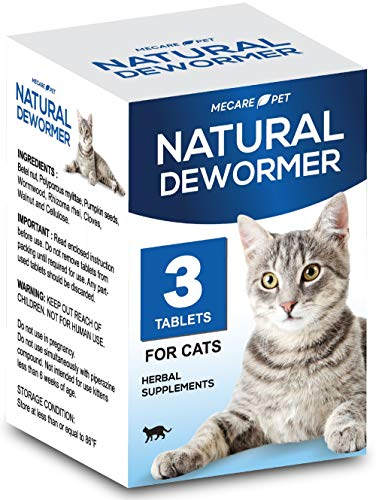 HERBALPET 8in1 Health Supplements | Cat Dewormer Alternative | Advanced Formula | Works for Kittens, Small, Medium and Large Cats | 3 Tablets | One-time Treatment