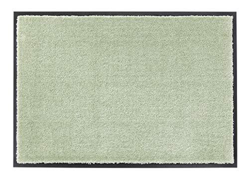 Schöner Wohnen Kollektion strapazierfähige Schmutzfangmatte Miami – getuftete Fußmatte 67x100 cm in Mint – waschbarer Sauberlauf