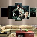 HFDSA Bilder 150X80 cm - Leinwandbild 5 Teilig Deadpool Und