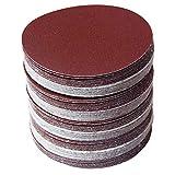 HNLZGL 30pcs / set 5inch 125mm Round sandpaper Disk Sand Sheets Grit 80/100/120/180/240/320 Disco de lijado con gancho y bucle para lijadoras D