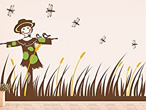 """Pop Decors""""Scarecrow and Grass"""" Beautiful Wall Stickers for Kids Rooms"""
