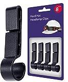 Helmet Clips for Headlamp, Easily Mount Hard Hat Accessories, Headlamp Hook on Helmet, Hard hat, Safety Cap Strap - Flashlight Headlamp clips, for Construction Hard Hat (8 pack)