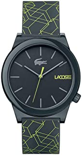 Lacoste Women's Black Dial Silicone Band Watch - 2010958
