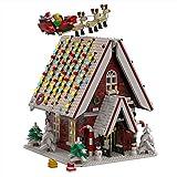 WWEI Bloques de construcción de casa de Navidad, 2840 piezas, cabaña de invierno, arquitectura, calendario de Adviento 2021, bloques de montaje, compatible con Lego 10267
