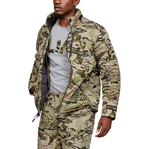 Under Armour Herren Timber Jacke, Herren, Jacke, Timber Jacket, Ua Barren Camo (999)/Schwarz, Medium