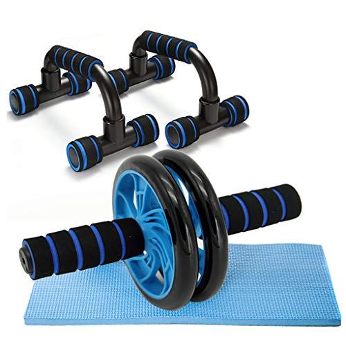CXD AB Roue Rouleau Kit AB Rouleau Pro avec Push-up Bar, Knee Pad - Équipement Portable entraînement Équipement de Base for l'exercice Roue Accueil Exercice, séance d'entraînement