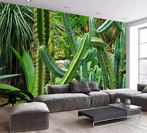 3D vliesbehang fotobehang abstract tropisch banaanblad-cactus-behang wandschilderij voor woonkamer bank background 400*280 400 x 280 cm.