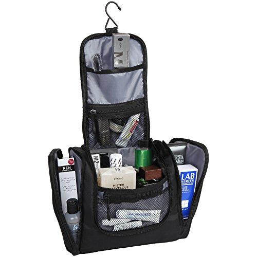 Premium Ballistic Nylon Hanging Gym Toiletry Bag For Men & Women - Kit for Shaving, Travel Accessories, Makeup, Cosmetics - Use In Hotel, Car, Bathroom, Airplane
