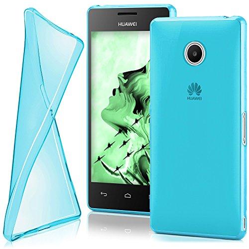 MoEx Huawei Ascend Y300 | Hülle Silikon Transparent Türkis Clear Back-Cover TPU Schutzhülle Dünn Handyhülle für Huawei Y300 Case Ultra-Slim Silikonhülle Rückseite