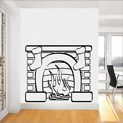 Hot Christmas Stoc Wall Sticker Decalcomanie in vinile Stufa Moda murale Decorazione della parete di...