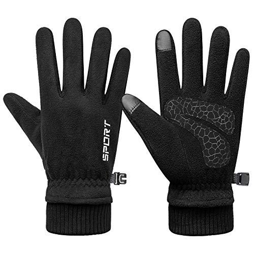 TAGVO Warme Polarfleece Winter Handschuhe, Winddichte thermische Anti-Rutsch Touchscreen Handschuhe,kaltes Wetter Arbeiten im Freien Camping Wandern Laufen Radfahren Fahrhandschuhe für Damen&Herren