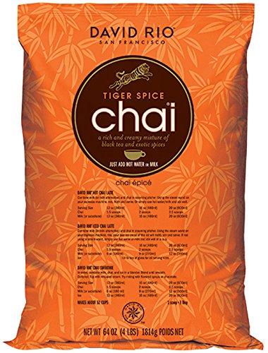 David Rio - Tiger Spice Chai | Chai Tee mit schwarzem Tee, Zimt, Kardamom und Nelken | Nachfüllbeutel | Gastronomie | 1814g