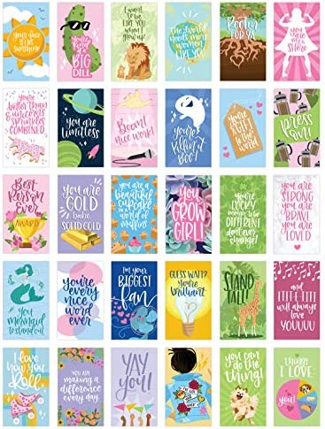 bloom daily planners Female Empowerment Note Card Deck Cute Inspirational Quote Cards and Affirmations product image