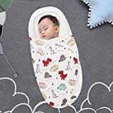 Baby Swaddle Pucksack Neugeborenen Schlafsack Klettverschluss Verstellbar Elastisch Baumwolle Kinderwagen Wickeldecke Kopfschutz Pucktuch Säuglinge Neugeborene Winter Herbst Dicker Warme Pucktuch