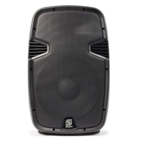 'Skytec spj1200abt son professionnel Enceinte autoamplificado DJ + commande à distance 30 cm (12) 300 W RMS 600 W aux usb, sd, CD MP3 ABS Bluetooth Compatibles tels que smartphones, notebooks et tabl
